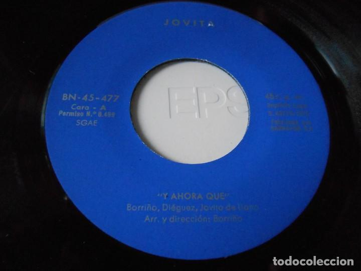 Discos de vinilo: JOVITA, SG, Y AHORA QUE + 1, AÑO 1975 - Foto 3 - 135943554