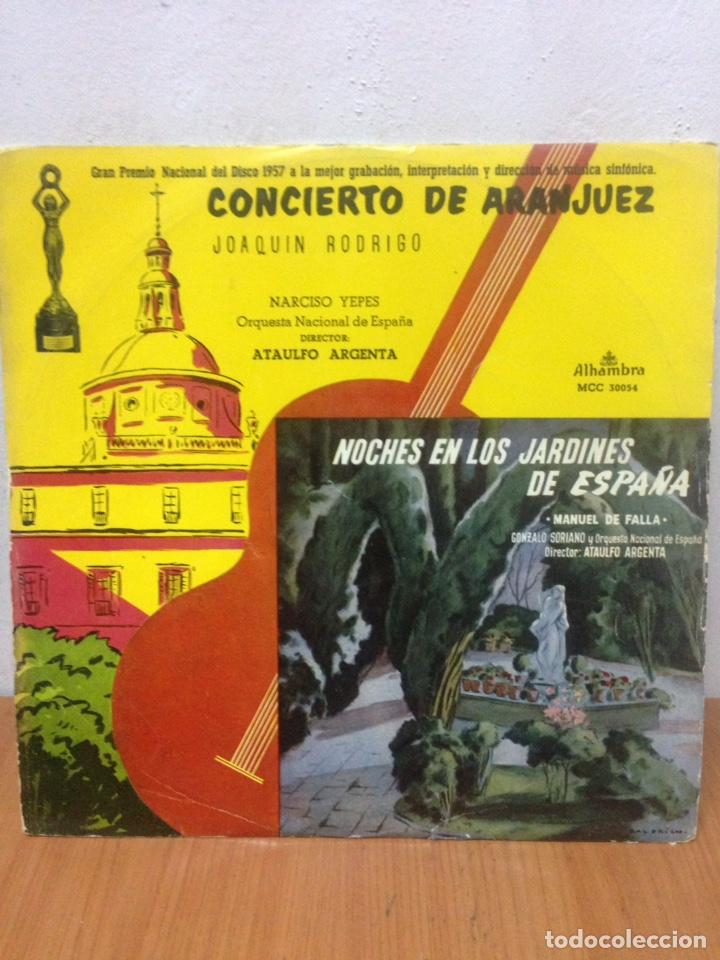 CONCIERTO DE ARANJUEZ J. RODRIGO-NOCHES EN LOS JARDINES DE M. DE FALLA LP VINILO MADE IN SPAIN 1962 (Música - Discos - LP Vinilo - Grupos Españoles de los 90 a la actualidad)