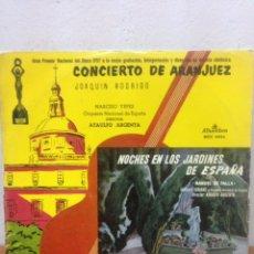 Discos de vinilo: CONCIERTO DE ARANJUEZ J. RODRIGO-NOCHES EN LOS JARDINES DE M. DE FALLA LP VINILO MADE IN SPAIN 1962. Lote 135949625