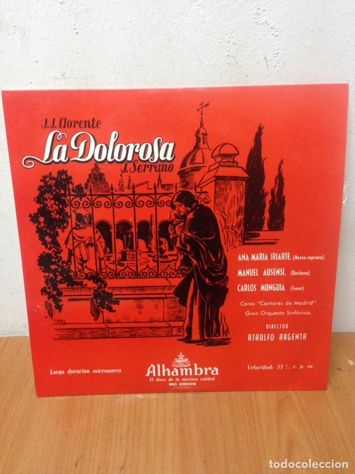 LP LA DOLOROSA - J. SERRANO - CANTAN ANA MARIA IRIARTE , MANUEL AUSENSI Y CARLOS MUNGUIA (Música - Discos - LP Vinilo - Cantautores Españoles)