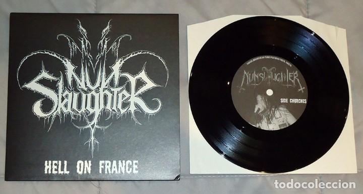 NUNSLAUGHTER - HELL ON FRANCE - 7'' [DRAKKAR PRODUCTIONS, 2004] (Música - Discos de Vinilo - EPs - Heavy - Metal)