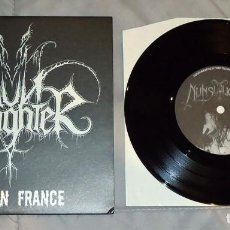 Discos de vinilo: NUNSLAUGHTER - HELL ON FRANCE - 7'' [DRAKKAR PRODUCTIONS, 2004]. Lote 135956882