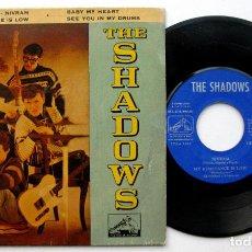 Discos de vinilo: THE SHADOWS - NIVRAM + 3 - EP LA VOZ DE SU AMO 1962 BPY. Lote 135998782