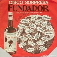 Discos de vinilo: SINGLE. LOS 3 SUDAMERICANOS. MUSICA DE LOS 3 SUDAMERICANOS. DISCO SORPRESA FUNDADOR. (VG/G+). Lote 136011518
