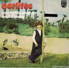 Discos de vinilo: CARLITOS - UNA TARDE EN EL ZOO / WALT DISNEY (SINGLE ESPAÑOL, PHILIPS 1972). Lote 136016662