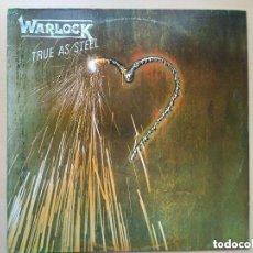 Discos de vinilo: WARLOCK - TRUE AS STEEL (LP) 1987. Lote 136026642