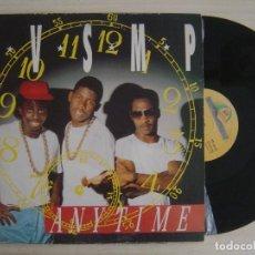 Discos de vinilo: B.V.S.M.P. - ANYTIME - MAXI-SINGLE 45 - ESPAÑOL 1988 - BOY RECORDS. Lote 136036154