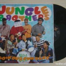 Discos de vinilo: JUNGLE BROTHERS - DOIN' OUR OWN DANG - MAXI-SINGLE 45 - 1990 ETERNAL. Lote 136036382