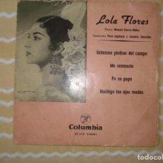 Discos de vinilo: LOLA FLORES, GRITENME PIEDRAS DEL CAMPO, MAS 3 CANCIONES.. Lote 136036806