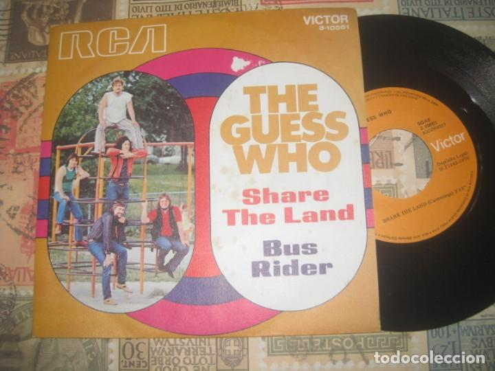 THE GUESS WHO-SHARE THE LAND + BUS RIDER ( RCA 1970) OG ESPAÑA LEA DESCRIPCION (Música - Discos - Singles Vinilo - Pop - Rock Internacional de los 50 y 60)
