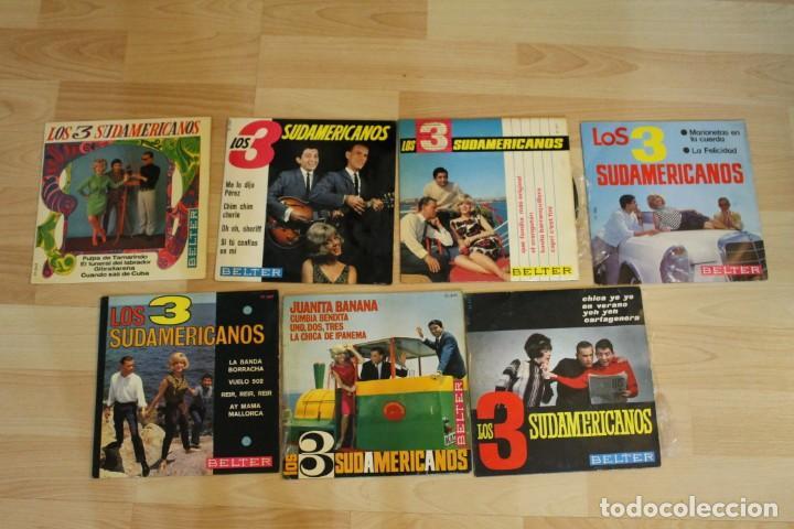 LOTE 7 EP'S LOS 3 SUDAMERICANOS (Música - Discos de Vinilo - EPs - Grupos y Solistas de latinoamérica)