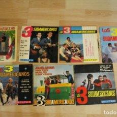Discos de vinilo: LOTE 7 EP'S LOS 3 SUDAMERICANOS. Lote 136066458