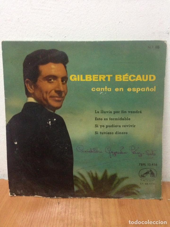 GILBERT BECAUD CANTA EN ESPAÑOL EP SELLO LA VOZ DE SU AMO AÑO 1960 (Música - Discos - LP Vinilo - Cantautores Extranjeros)