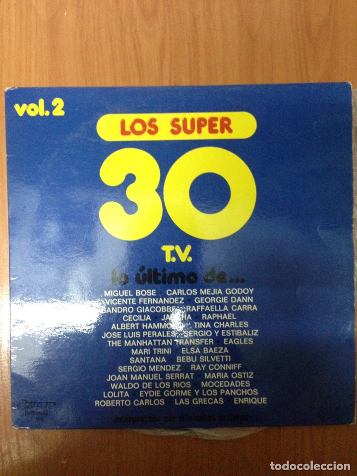 LOS SÚPER 30 (Música - Discos - LP Vinilo - Cantautores Extranjeros)