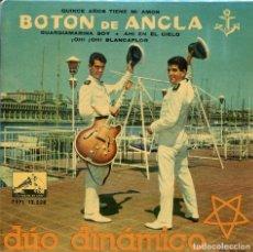 Disques de vinyle: DUO DINAMICO / CANCIONES DE LA PELICULA BOTON DE ANCLA (EP 1960) VINILO AZUL. Lote 136096946