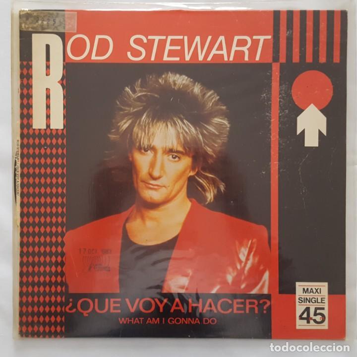 MAXI / ROD STEWART / WHAT AM I GONNA DO / 1983 / PROMO (PROBADO Y BIEN) (Música - Discos de Vinilo - Maxi Singles - Pop - Rock - New Wave Extranjero de los 80)