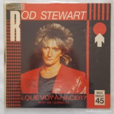 Discos de vinilo: MAXI / ROD STEWART / WHAT AM I GONNA DO / 1983 / PROMO (PROBADO Y BIEN). Lote 136098506