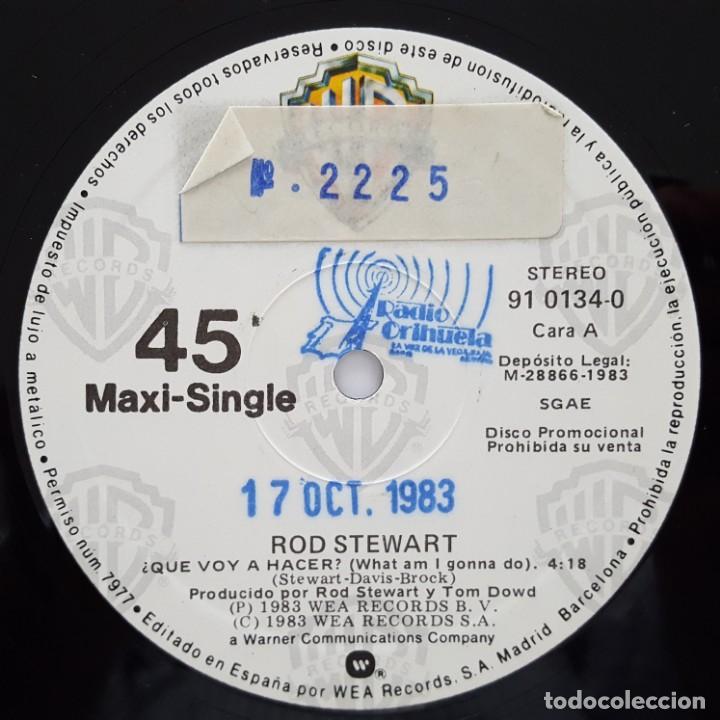 Discos de vinilo: MAXI / ROD STEWART / WHAT AM I GONNA DO / 1983 / PROMO (PROBADO Y BIEN) - Foto 3 - 136098506