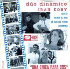 Discos de vinilo: DUO DINAMICO - IAN EROY (CANCIONES DE LA PELICULA UNA CHICA PARA DOS) EP 1966. Lote 136099526