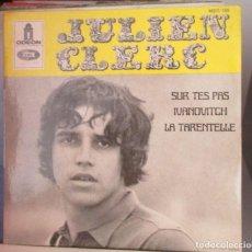 Discos de vinilo: JULIEN CLERC - SUR TES PAS - EP TRES TEMAS - EDICION FRANCESA 1968. Lote 136103446