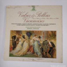 Discos de vinilo: VALSES POLKAS VIENNOISES. BASLER SINFONIE ORCHESTER. ARMIN JORDAN. LP. TDKDA43. Lote 136108210
