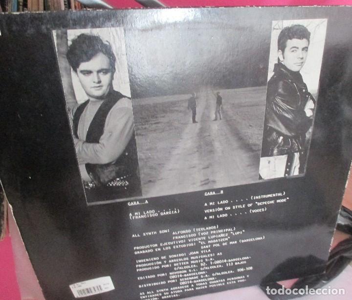 Discos de vinilo: AS ALL SYNTH - A MI LADO +2 TEMAS - MAXI 1993 - SYNTH POP BIZARRO AMATEUR - Foto 2 - 136111030