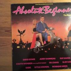 Discos de vinilo: ABSOLUTE BEGINNESS THE MUSICAL. DAVID BOWIE, SADE, RAY DAVIES... VIRGIN, 1986. Lote 136116782