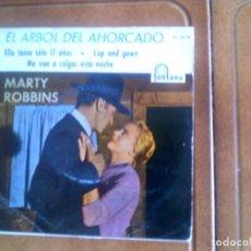 Discos de vinilo: BANDA SONORA EL ARBOL DEL AHORCADO CANTA MARTY ROBBINS. Lote 136140574