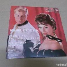 Discos de vinilo: ORQUESTA SINFONICA DE CHICAGO (EP) VIENA – JOHANN STRAUSS JR. AÑO 1962. Lote 136147946