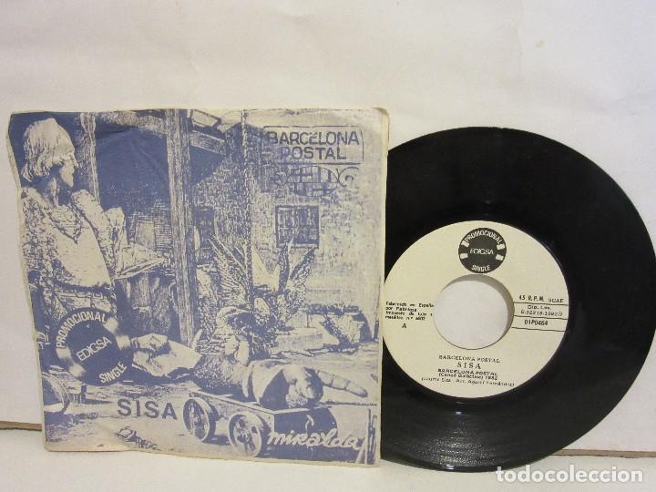 SISA - BARCELONA POSTAL - SINGLE - PROMOCIONAL - 1982 - SPAIN - EX+/G (Música - Discos - Singles Vinilo - Cantautores Españoles)