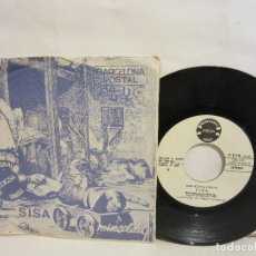 Discos de vinilo: SISA - BARCELONA POSTAL - SINGLE - PROMOCIONAL - 1982 - SPAIN - EX+/G. Lote 136151834