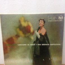 Discos de vinilo: MARIA LANZA CANCIONES DE AMOR Y UNA SERENATA NAPOLITANA. Lote 136154540