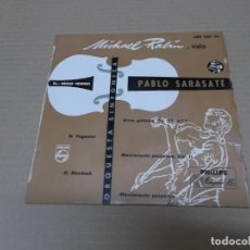 Discos de vinilo: MICHAEL RABIN (EP) PABLO SARASATE AÑO 1957. Lote 136160910