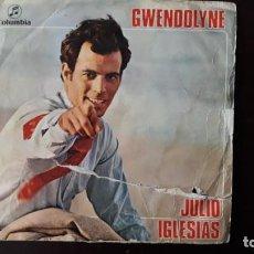 Discos de vinilo: JULIO IGLESIAS GWENDOLYNE. Lote 136163666