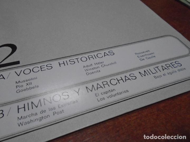 Discos de vinilo: SINGLE 45 AÑOS 80 VOCES HISTÓRICAS, HIMNOS Y MARCHAS MILITARES. HITLER. GOEBBELS. MUSSOLINI. CHURCHI - Foto 6 - 136164022
