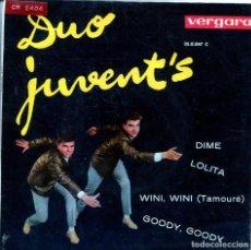 Discos de vinilo: DUO JUVENT'S / DIME + 3 (EP 1963). Lote 136167378