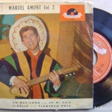 Discos de vinilo: MARCEL AMONT VOL 2 FLAMENCO ROCK - EP 1962 - POLYDOR. Lote 136176718