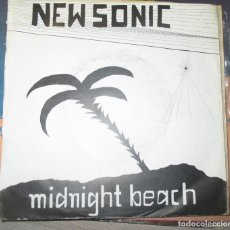 Discos de vinilo: NEW SONIC - MIDNIGHT BEACH - RARO SINGLE SYNTH POP AUTOEDITADO - SIN LABEL - . Lote 136179046