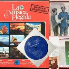 Discos de vinilo: ESTUCHE 4 DISCOS VINILO LP ZARZULEA + LIBRO LA MÚSICA ELEGIDA GRANDES ORQUESTAS CBS 1982 . Lote 136183946