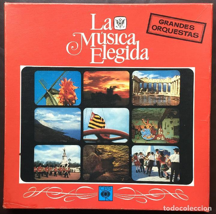 Discos de vinilo: Estuche 4 Discos Vinilo LP Zarzulea + Libro LA MÚSICA ELEGIDA Grandes Orquestas CBS 1982 - Foto 2 - 136183946