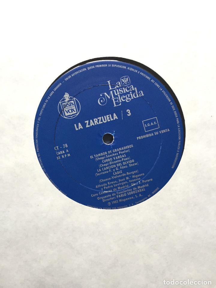 Discos de vinilo: Estuche 4 Discos Vinilo LP Zarzulea + Libro LA MÚSICA ELEGIDA Grandes Orquestas CBS 1982 - Foto 4 - 136183946