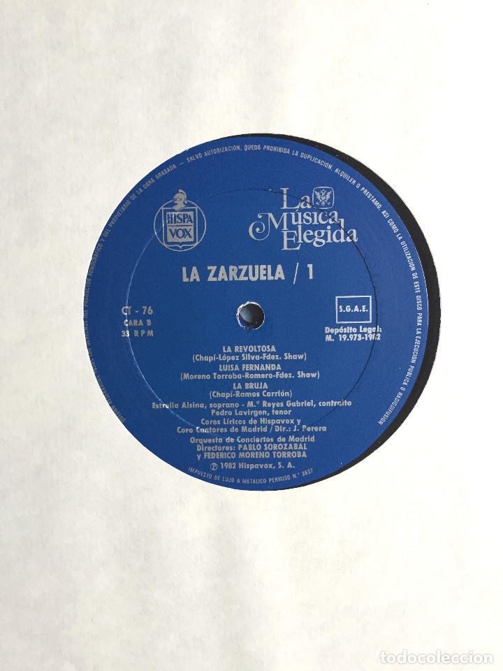 Discos de vinilo: Estuche 4 Discos Vinilo LP Zarzulea + Libro LA MÚSICA ELEGIDA Grandes Orquestas CBS 1982 - Foto 5 - 136183946