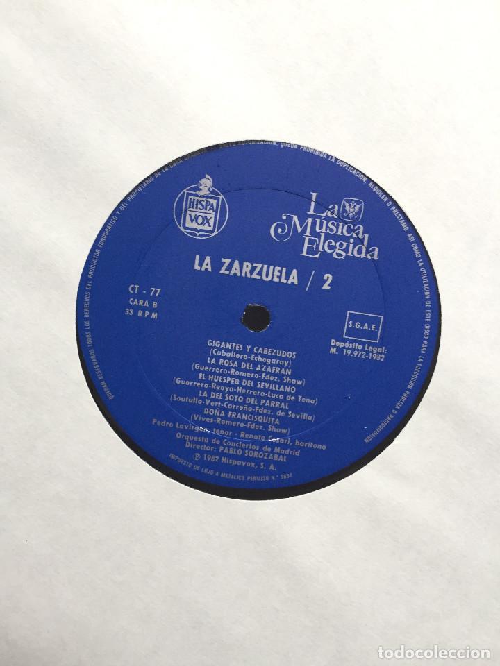 Discos de vinilo: Estuche 4 Discos Vinilo LP Zarzulea + Libro LA MÚSICA ELEGIDA Grandes Orquestas CBS 1982 - Foto 6 - 136183946
