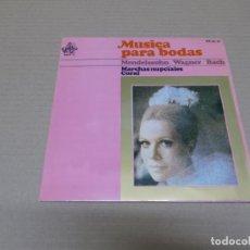 Discos de vinilo: MUSICA PARA BODAS (EP) MENDELSSON, WAGNER, BACH AÑO 1967. Lote 136187934