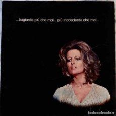 Discos de vinilo: MINA... BUGIARDO PIU CHE MAI... LP ORIGINAL ITALIA CON SOLAPA DESPEGABLE Y PORTADA ABIERTA. Lote 136190082