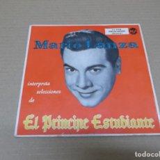 Discos de vinilo: MARIO LANZA (EP) EL PRINCIPE ESTUDIANTE AÑO 1957 – DOBLE EP CON PORTADA ABIERTA. Lote 136190210