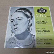 Discos de vinilo: RENATA TEBALDI (EP) AIDA AÑO 1957. Lote 136190698