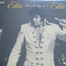 Discos de vinilo: ELVIS PRESLEY THAT´S THE WAY IT IS LP. Lote 136206942