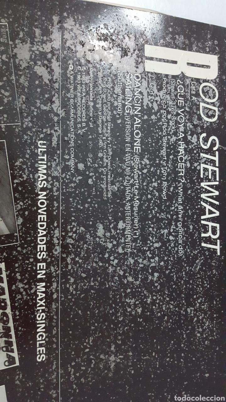 Discos de vinilo: MAXI / ROD STEWART / WHAT AM I GONNA DO / 1983 / PROMO (PROBADO Y BIEN) - Foto 5 - 136098506