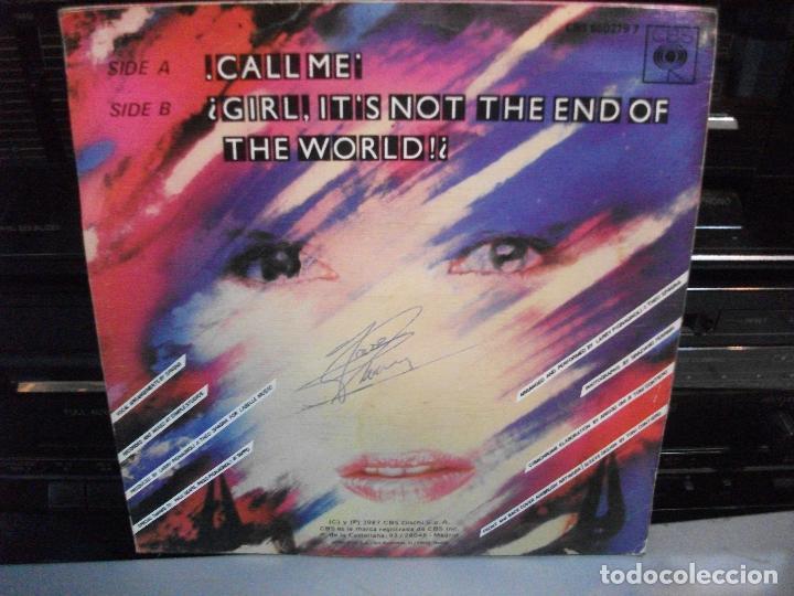 Discos de vinilo: SPAGNA, CALL ME, SINGLE SPAIN, ITALO-DISCO 1987 - Foto 2 - 136211706